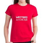 Writers Do It With Style Women's Dark T-Shirt