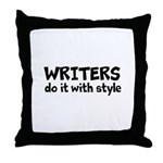 Writers Do It With Style Throw Pillow