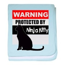 Protected by Ninja Kitty (Bla baby blanket
