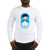 Matryoshka - Blue Long Sleeve T-Shirt