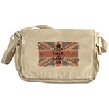 UK Flag with Keep Calm and Ca Messenger Bag