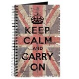 UK Flag with Keep Calm and Ca Journal