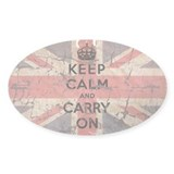 UK Flag with Keep Calm and Ca Decal