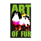 Art Of Fur 38.5 x 24.5 Wall Peel
