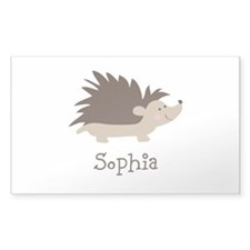 Custom Name Hedgehog Decal