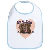 Chocolate Lab Sister Bib