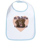 Chocolate Lab Brother Bib