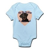 Black Lab Brother  Baby Onesie