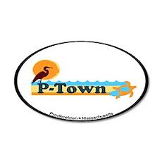 Provincetown MA - Beach Design. 22x14 Oval Wall Pe