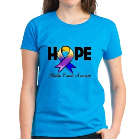 Hope Bladder Cancer Women's Dark T-Shirt
