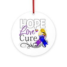Hope Cure Bladder Cancer Ornament (Round)