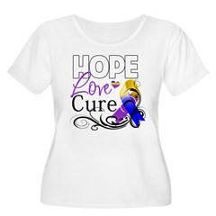 Hope Cure Bladder Cancer Women's Plus Size Scoop N