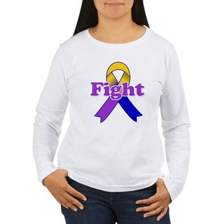 Fight Bladder Cancer Women's Long Sleeve T-Shirt