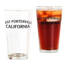 East Porterville California Drinking Glass