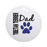 Tibetan Terrier Dad 2 Ornament (Round)