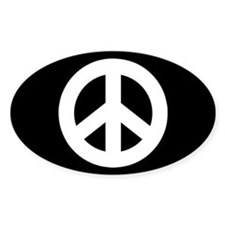 Peace Sign Sticker (black)