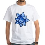 Dark Blue Bow White T-Shirt