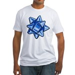 Dark Blue Bow Fitted T-Shirt