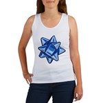 Dark Blue Bow Women's Tank Top