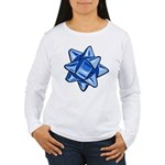 Dark Blue Bow Women's Long Sleeve T-Shirt
