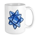 Dark Blue Bow Large Mug