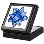 Dark Blue Bow Keepsake Box