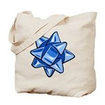 Dark Blue Bow Tote Bag