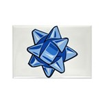 Dark Blue Bow Rectangle Magnet (10 pack)