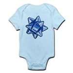 Dark Blue Bow Infant Bodysuit