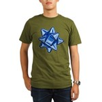 Dark Blue Bow Organic Men's Dark T-Shirt