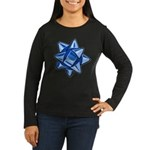 Dark Blue Bow Women's Dark Long Sleeve T-Shirt
