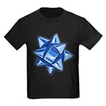 Dark Blue Bow Kids Dark T-Shirt