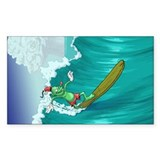 Fishhook Finnigan Sticker (surfing)