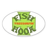 Fishhook Finnigan Sticker (freesurfin)