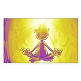 Fishhook Finnigan Sticker (purple meditation)