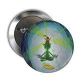 "Fishhook Finnigan 2.25"" Button (meditation)"