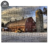 Long Barn Sunset Puzzle
