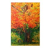 Serene Fall Tree with Tire sw Postcards (Package o