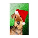 Airedale Terrier Christmas Sticker (Rectangle)