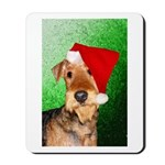 Airedale Terrier Christmas Mousepad
