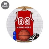 "Personalized Basketball Jerse 3.5"" Button (10 pack"