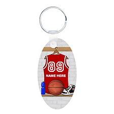 Personalized Basketball Jerse Keychains