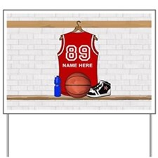 Personalized Basketball Jerse Yard Sign