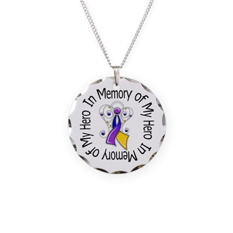 In Memory - Bladder Cancer Necklace Circle Charm