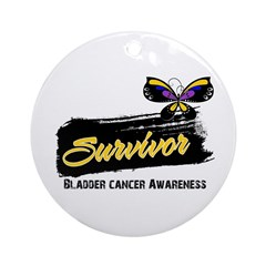 Bladder Cancer Survivor Ornament (Round)