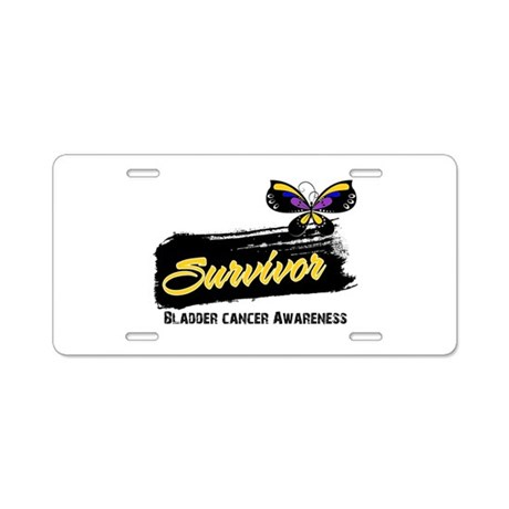 Bladder Cancer Survivor Aluminum License Plate