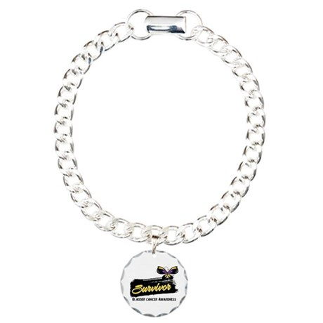 Bladder Cancer Survivor Charm Bracelet, One Charm