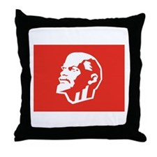 Leninist Flag Throw Pillow