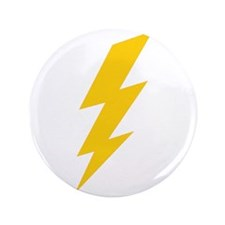 "Yellow Thunderbolt 3.5"" Button"