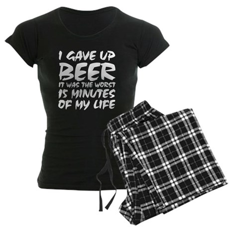 I gave up beer Women's Dark Pajamas